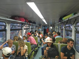 Vagón del tren de cremallera de Nuria